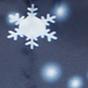 Сині (білі сніжинки)
